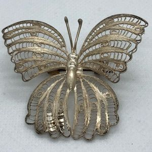Gorgeous VTG 925 Sterling Butterfly Brooch